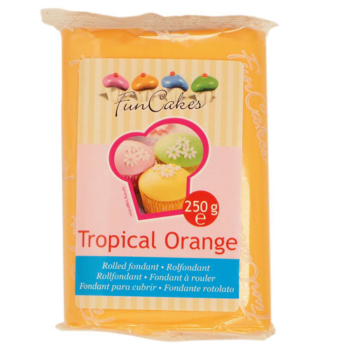 Funcakes sokerimassa, Tropical Orange 250g