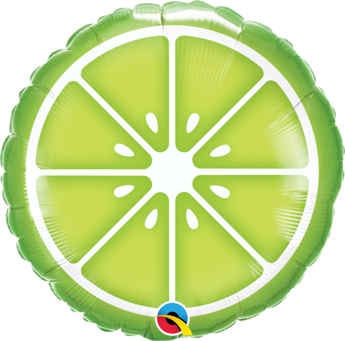 Foliopallo, sliced lime