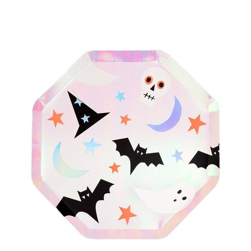Pink Icon Halloween lautaset
