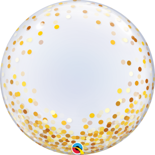 Deco bubble, Gold Confetti 60cm